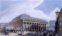 vue du theatre de victor louis a bordeaux by jean jacques alban de lesgallery