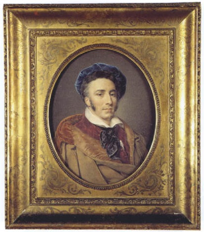 portrait dhomme au béret by henri joseph hesse