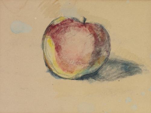 étude de pomme study by paul cézanne