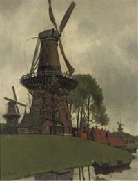de vijf molens - a windmill by eduard karsen