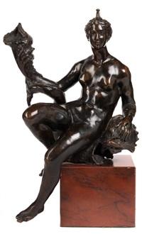 renaissance-bronzefigur venus mit delfin by bartolomeo ammannati