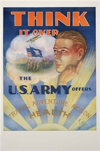 think it over (by tom woodburn) by posters: world war i & ii