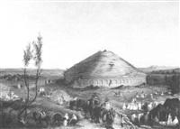 préparation d'un mariage aux abords du mausolée antique by léonie le bas