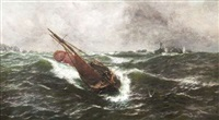 to lee-ward off the longships reef by thomas rose miles