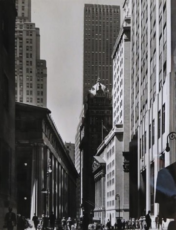 stock exchange nassau street new york by andreas feininger