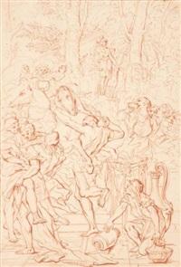 scène d'histoire romaine, d'après pietro testa by bernard picart