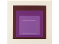 five plates (from white line squares (d. 172.1-4, 7)) by josef albers