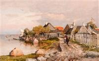 fishing village in haapsalu by yuliy yulevich (julius) klever