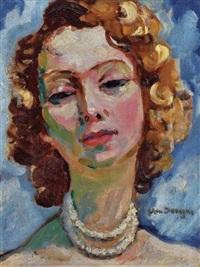 portrait de femme by kees van dongen