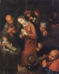 l'adoration des bergers by hieronymus francken the elder