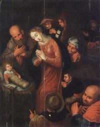 l'adoration des bergers by hieronymus francken the elder
