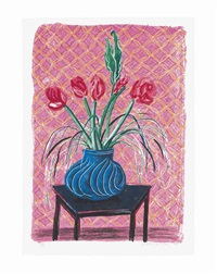 amaryllis in vase, from moving focus by david hockney