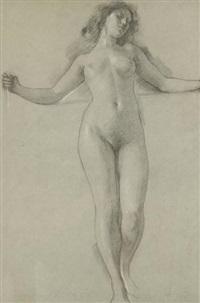 femme nue au bras écartés by luc olivier merson