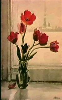 les tulipes devant la fenetre by taissia afonina