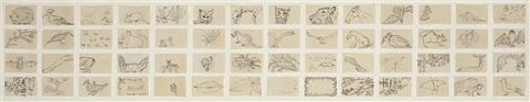 untitled 56 assorted animals by merce cunningham