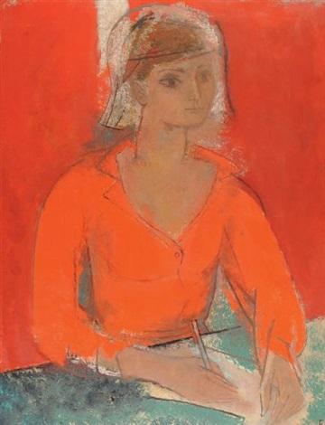 portrait de chantal hunt by françoise gilot