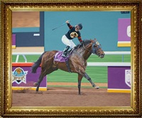 ghostzapper winning the breeders cup classic, 2004 by stephen smith
