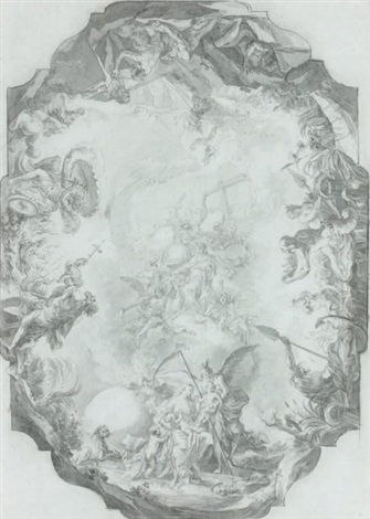 lapothéose dun saint projet de plafond by cosmas damian asam