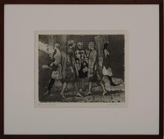 five women walking by isabel bishop