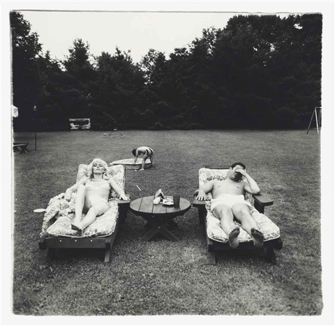 a family on their lawn one sunday in westchester ny from a box of ten photographs by diane arbus
