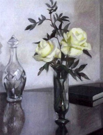 roses and decanter by rose brigid ganley
