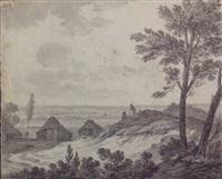 a view of amersfoort with the house de pot, the church of sint joris and the onze lieve vrouwen tower beyond by jan apeldoorn