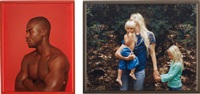 i) black man (+ mother, son and daughter, 2006; 2 works) by elad lassry