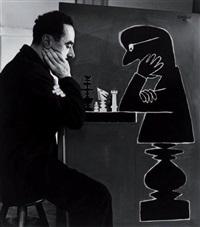 savignac aux échecs by robert doisneau