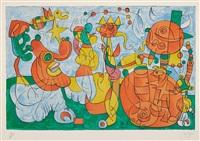 ubu roi: plate 3 by joan miró