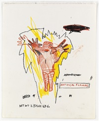 untitled (artifical flavors) (+ untitled (venus velvet drawing), verso) by jean-michel basquiat