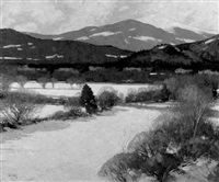 mt. washington, early spring by thomas r. dunlay