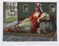 in orientalisches habit gekleidete europäerin by oscar von alvensleben