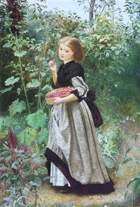 picking raspberries by frederick smallfield