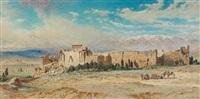 les ruines de baalbek by carl haag