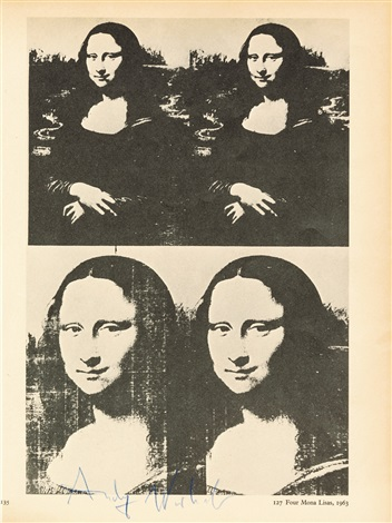 Super Four Mona Lisa by Andy Warhol on artnet OL27