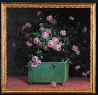 une caisse de roses dans l'orangerie by louis tessier