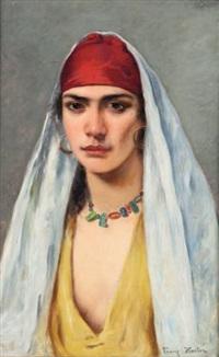 portrait d'orientale by franz xavier kosler