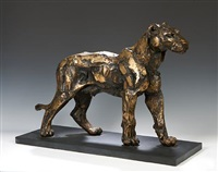 figure of a lioness by sally arnup