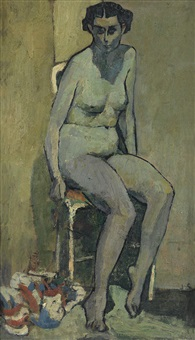 seated nude by joseph solman