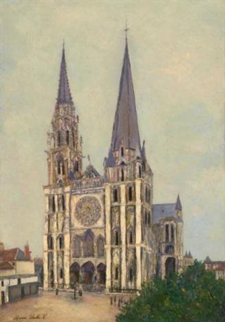 la cathédrale de chartres eure et loir by maurice utrillo