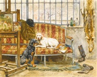 les chiens de l'artiste by jules-bertrand & gaston gélibert