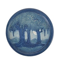 trivet with live oaks by anna frances connor simpson