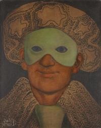 homme au masque vert by mario gruber