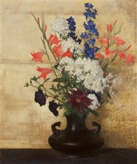 flowers on gold by hermann dudley murphy