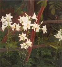 garden with lilies by constantin artachino
