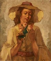 l'élégante au chapeau by marguerite aers