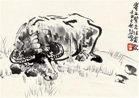 水牛图 (the buffalo) by xu beihong