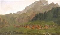le village de taveyamraz by léon-auguste mellé