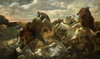 hounds attacking bears by juriaen jacobsen