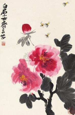 花卉 by qi liangzhi